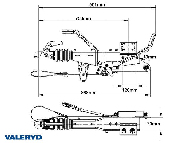 Auflaufeinrichtung Knott KRV13E 750-1400 Kg