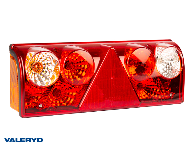 LED Takavalo Aspöck Europoint II Vas 426x154x85mm heljastin, sumuvalo, 7 nap. AMP