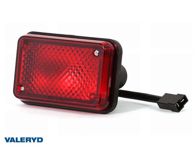 Tåkelys WAŚ Hø/Ve 136x86x82 rød 180mm kabel