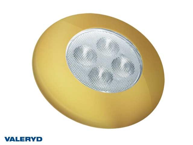 LED Innebelysning rund Ø92 guld