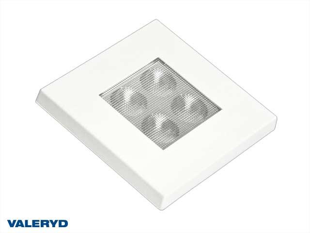 LED Innebelysning firkantet 76x76 hvit