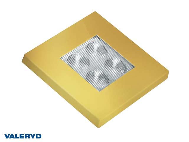 LED Innebelysning firkantet 76x76 guld