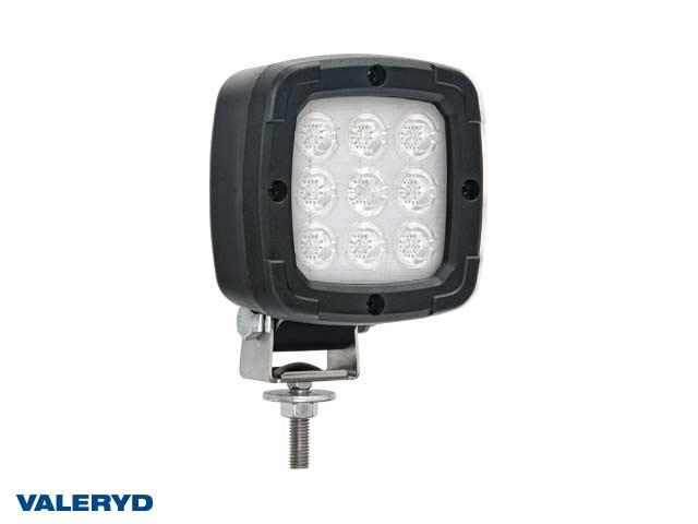 LED Arbeidsbelysning svart 100x100x74 skruefeste