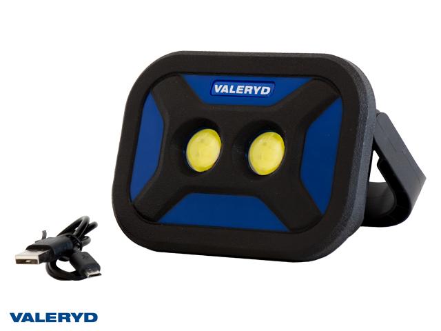 Multi LED Arbeidsbelysning Valeryd med magnet håndtak 136x96x40mm 700Lm oppladbart