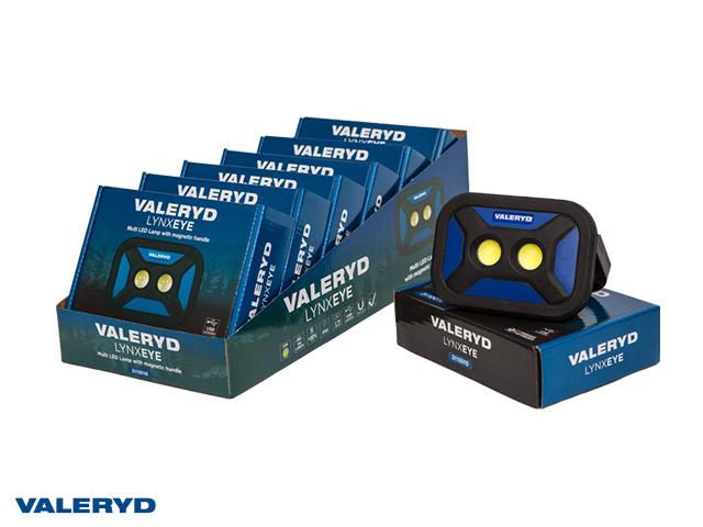 Multi LED Arbeidsbelysning Valeryd med magnet håndtak 136x96x40cm 700Lm oppladbart (8-pack)