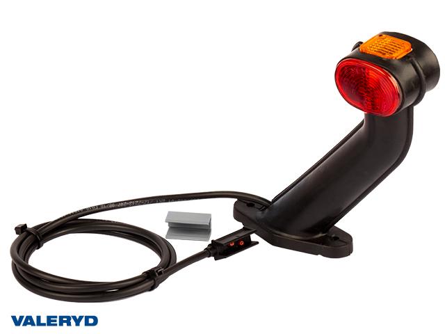 Breddemarkeringslykt Aspöck Superpoint II 168x170mm Ve rød/hvit/gul 24V med P&R 1,25m kabel