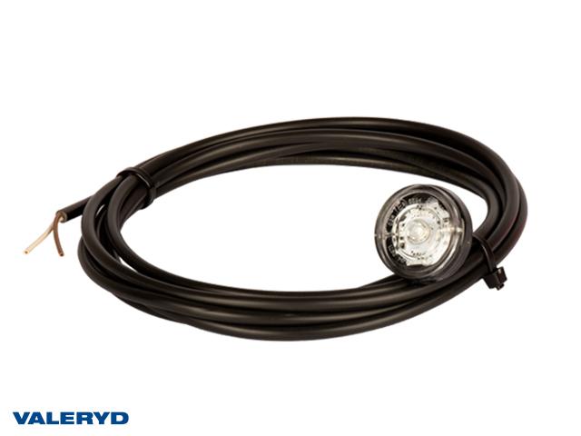 LED Äärivalo Aspöck Monopoint II Ø38x29mm valkoinen 12/24V kanssa 3,50m avoin kaapeli