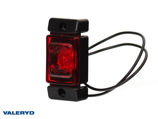 LED Seitenmarkierungsleuchte WAŚ 72x32x23 rot 220mm kabel
