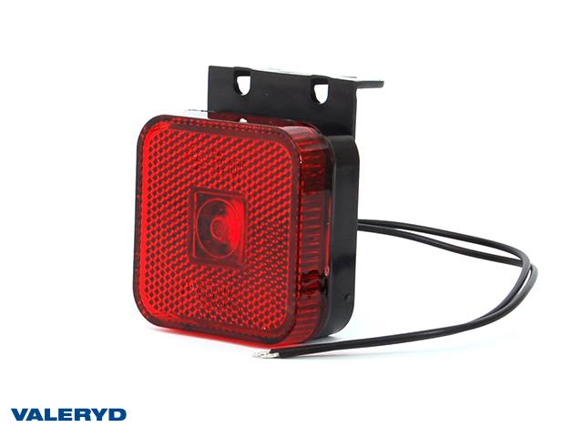 LED Sivuvalaisin WAŚ 65x65x28 punainen 220mm kaapelilla