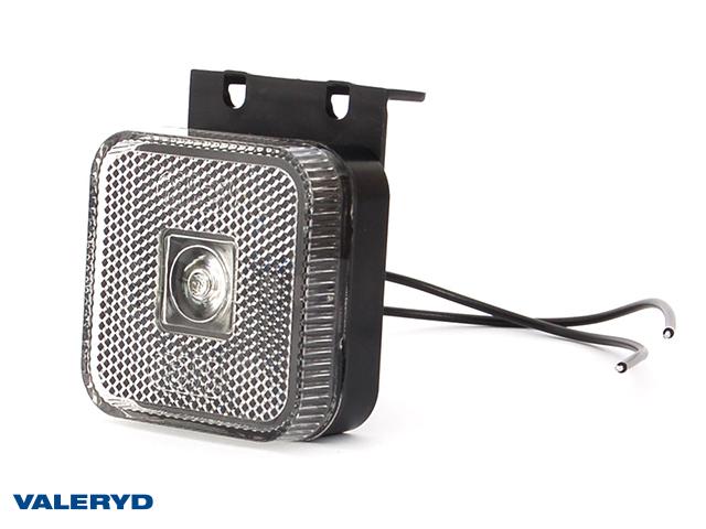 LED Feu de signalisation latérale WAŚ 65x65x28 blanc 220mm Câblage