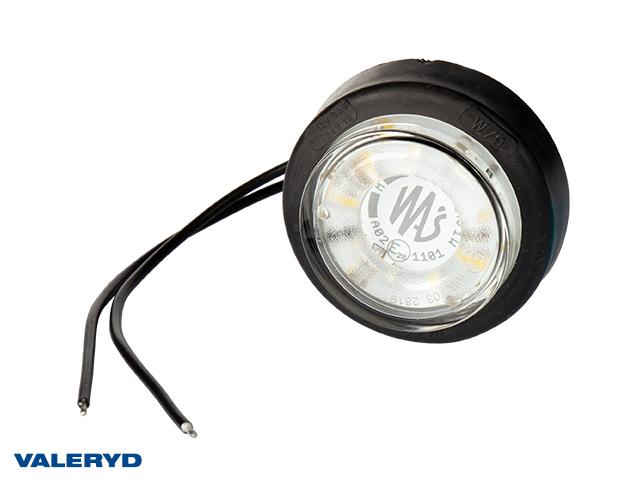 LED Sidemarkeringslykt WAŚ Ø60,6x26,4 hvit 220mm kabel
