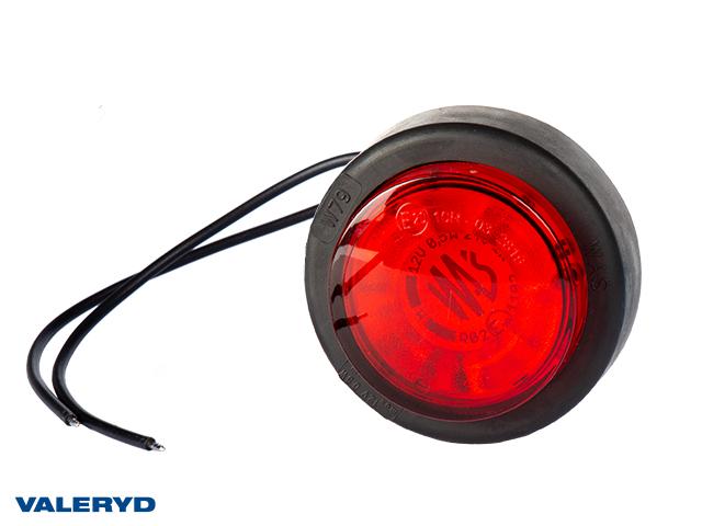 LED Sidemarkeringslykt WAŚ Ø60,6x26,4 rød 220mm kabel