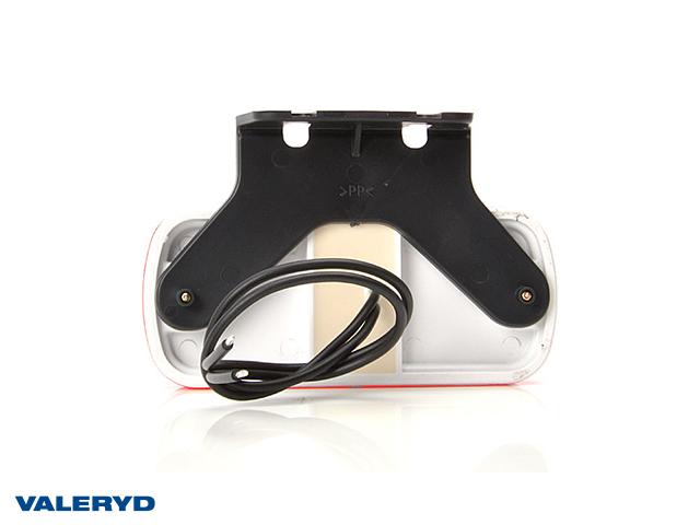 LED Sidemarkeringslykt WAŚ 105,4x67,5x33,8 rød 240mm kabel med gummifeste