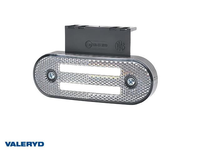 LED Sidemarkeringslykt WAŚ 115,3x41,3x20 hvit 220mm kabel