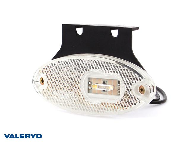 LED Seitenmarkierungsleuchte WAŚ 102x68x12 weiß 220mm kabel