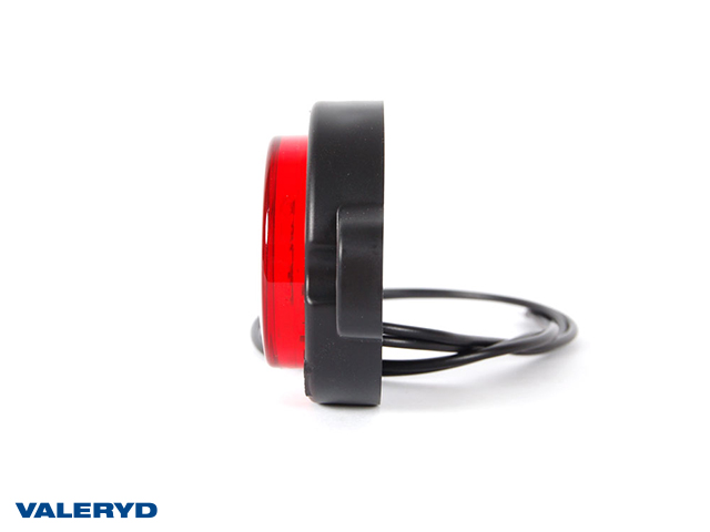 LED Sidemarkeringslykt WAŚ Hø/Ve 59x79,5x27mm rød 220mm kabel