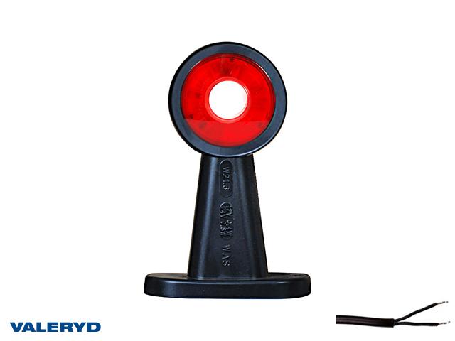 LED Seitenmarkierungsleuchte WAŚ R/L 135x89x49 rot/weiß 270mm kabel