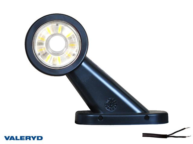 LED Sivuvalaisin WAŚ Oik 108x134,5x49 punainen/valkoinen 290mm kaapelilla