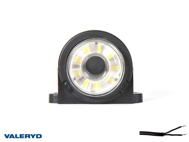 LED Sidemarkeringslykt WAŚ 89x60x78 hvit 200mm kabel