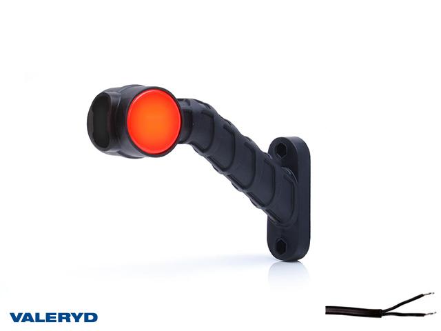 LED Sidemarkeringslykt WAŚ Ve 189x140x55 hvit/rød 200mm kabel