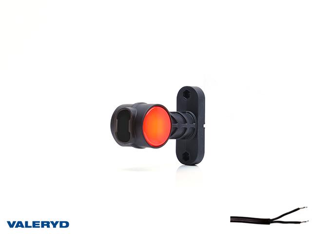 LED Sivuvalaisin WAŚ Oik/Vas 124x100x55 valkoinen/punainen 300mm kaapelilla