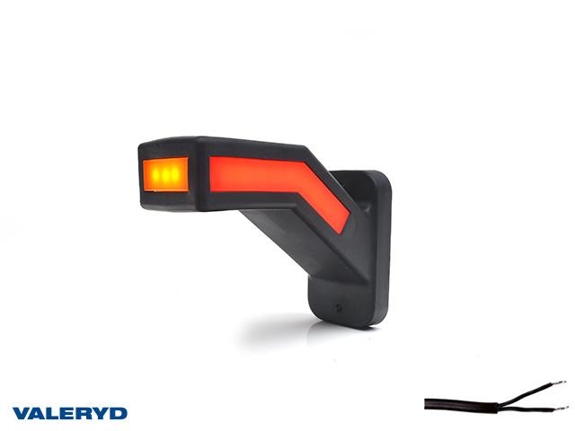 LED Sidemarkeringslykt WAŚ Ve 146,1x110,6x58 gul/hvit/rød 310mm kabel
