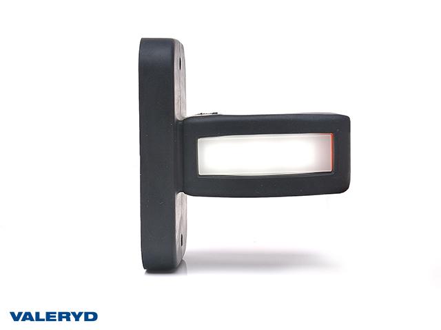LED Sidemarkeringslykt WAŚ Hø/Ve 87x100x52 gul/hvit/rød 350mm kabel
