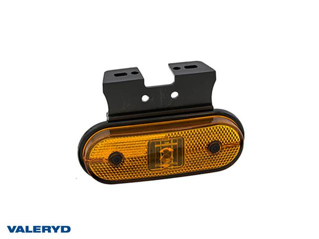 LED Sivuvalaisin Aspöck Unipoint I 119x75x18mm keltainen 24V kanssa P&R 1,50m ASS1 kaapelilla