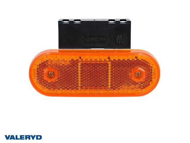 LED Sivuvalaisin WAŚ Oik/Vas 63x114x40 keltainen 220mm kaapelilla kanssa kumikiinnike