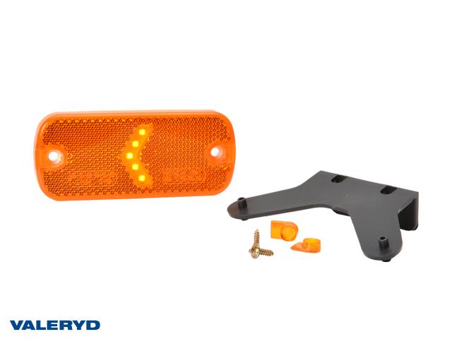 LED Sidemarkeringslys WAŚ Hø/Ve 67,5x105,4x33,8 gul 230mm kabel med gummiholder