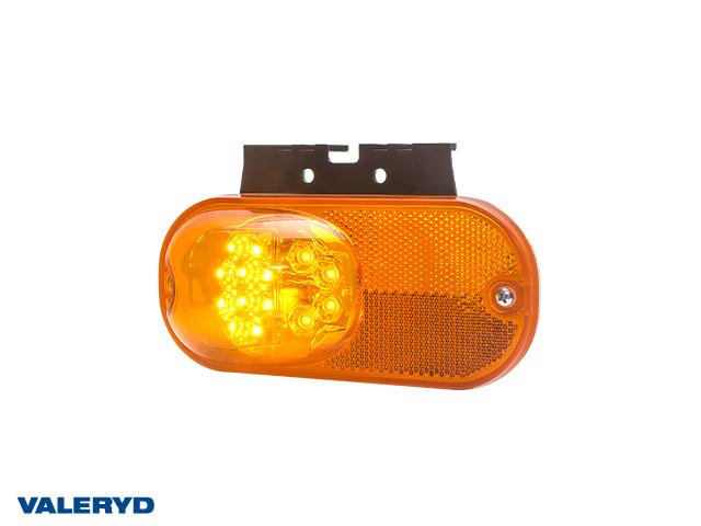LED Sidemarkeringslys WAŚ Hø/Ve 73.7x159,2x36,4 gul 500mm kabel (2-pack)