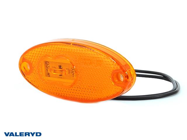 LED Feu de signalisation latérale WAŚ D/G 46x102x12 jaune 220mm Câblage