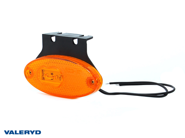 LED Seitenmarkierungsleuchte WAŚ R/L 68x102x12 gelb 220mm kabel mit Gummibefestigung
