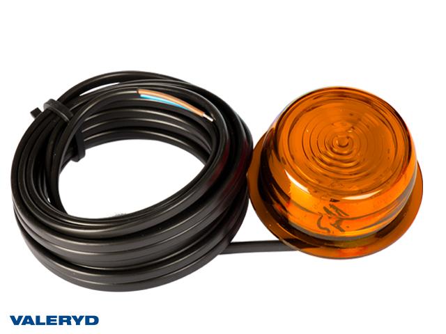 LED Sidemarkeringslykt WAŚ Hø/Ve 87x98x50 gul 500mm kabel