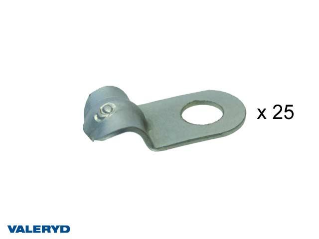 Kabelklämma metall 6 mm (25-pack)