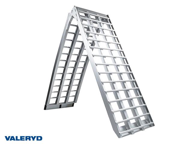 Lasterampe aluminium sølv 2380x450mm, foldbar: 1230x450mm, 680 kg