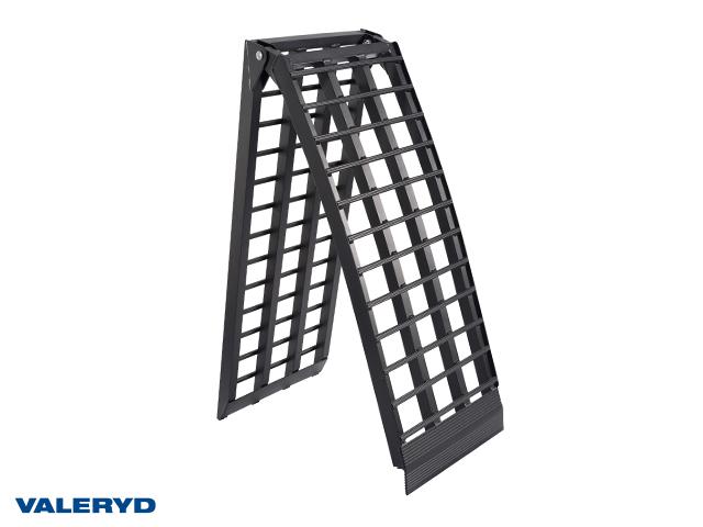 Lasterampe aluminium sort 2380x450mm, foldbar: 1230x450mm, 680 kg