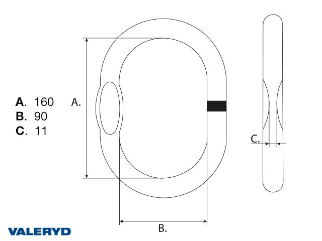 Toppløkke G80 13/10-8mm, 5,3 ton