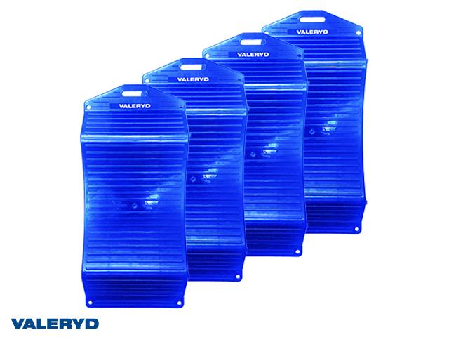 Dekkplate sett 440x199mm blå (4-pack)