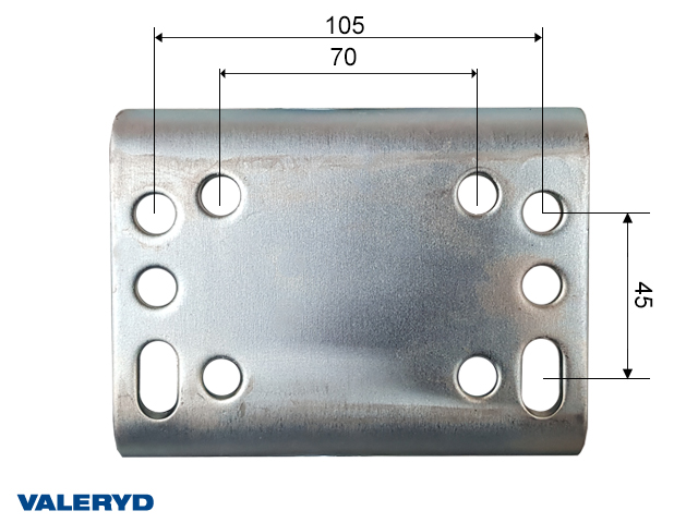 Støttehjul Ø60mm runde - Aut. foldning. Pladefælg. Fuld Gummi hjul 200x60mm. Load 250kg