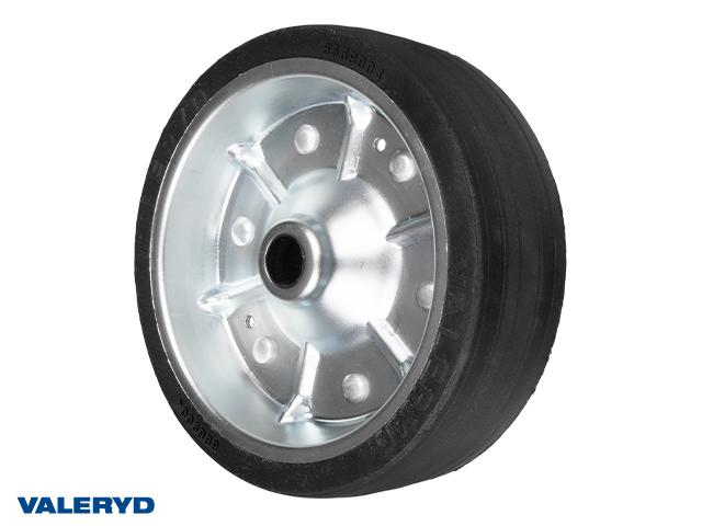 Reservehjul 200x50. Pladefælg. Fuld Gummi hjul Ø20mm/55mm