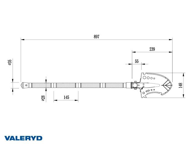 Multi-Tool Balder 865x136 mm