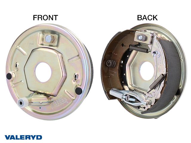 Bromssköldspaket höger, Knott 200x50, för fastsvetsning, kompaktlager, centrumhål Ø 45 mm