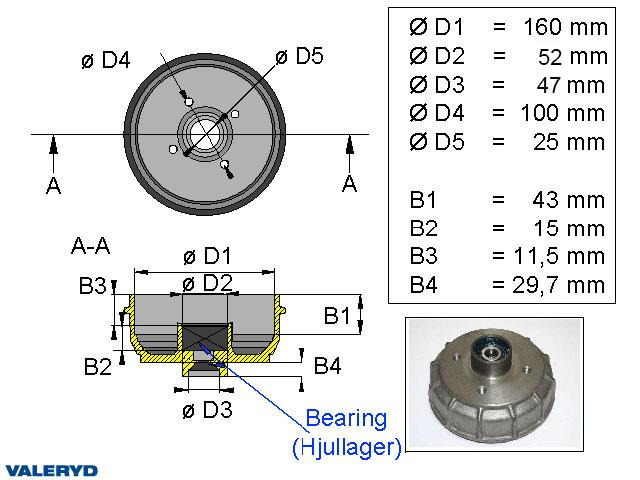 Bromstrumma 160x35 4x100 GSM Komplett