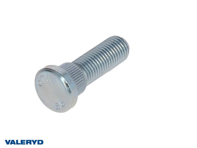 Wheel bolt M12x1.5 - Splines Ø14.5 mm x 10 mm - Thread length 32 mm - Tot. lgth 47 mm