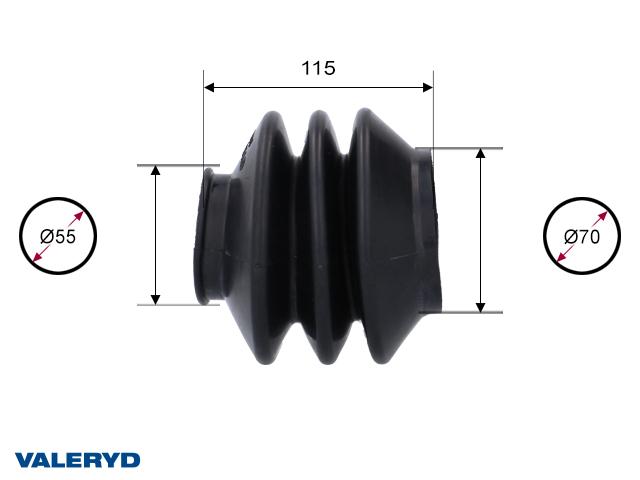 Gummibälg passar till AL-KO 2,8VB/1; 55/70 L=115