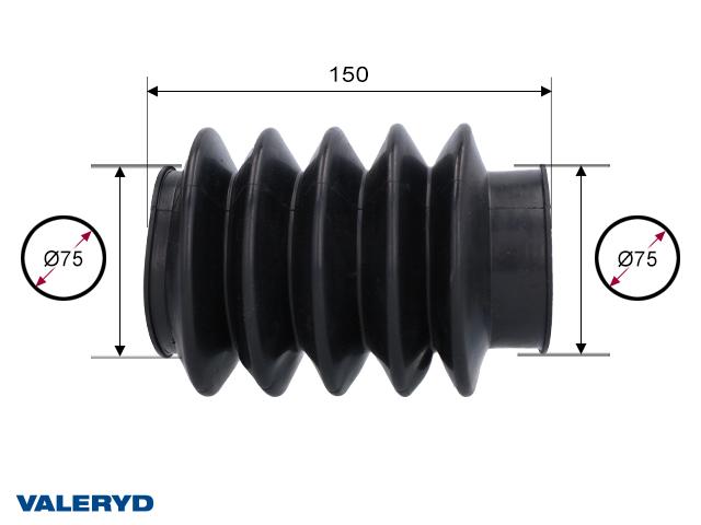 Gummibälg Knott KF/KRV/KFG 27/30/35; 75/75mm L= 150