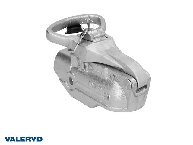 Kulkoppling 2700 kg Avonride Lock 27 Ø50mm rör, korsad hålbild CC=40. Gjutjärn, med lås.