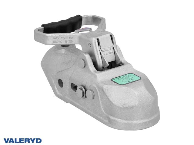 Kulkoppling 2700 kg Knott K27-A, Ø50mm rör, korsad hålbild CC=45/50mm, M12