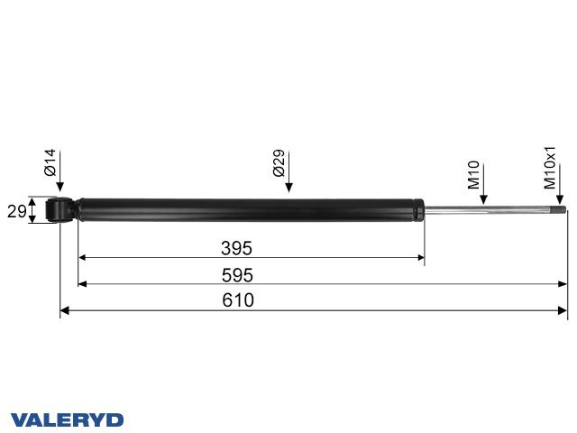 Coupling damper fits AL-KO 2.8 VB CC=610